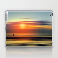 Bright Red - seascape sunset abstract Laptop & iPad Skin