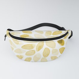 Watercolor brush strokes - yellow Fanny Pack