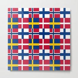 Flags of scandinavia2: finland, denmark,swede,norway Metal Print