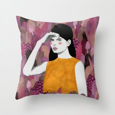 Dalila at night Throw Pillow