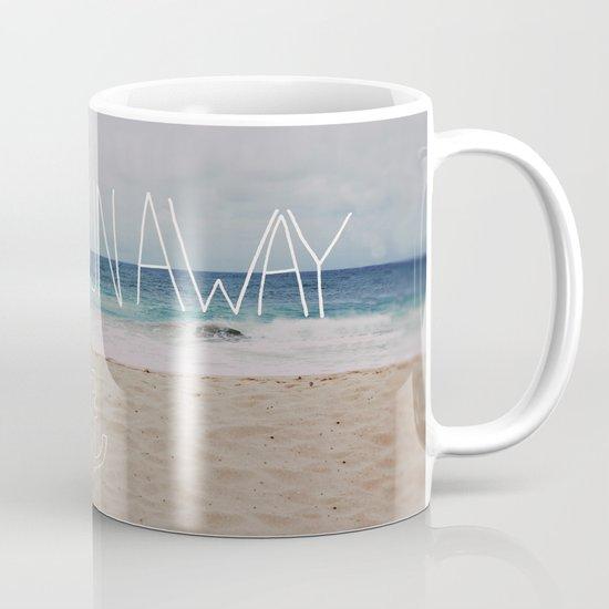 Let's Run Away: Sandy Beach, Hawaii Mug