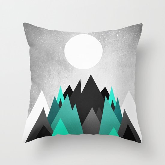 Cold Planet Throw Pillow
