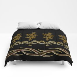 Muster Drachen - metallisch Comforters