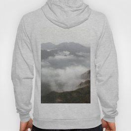 landscape mountains clouds over the clouds Hoody