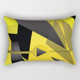Coloured thick straight lines abstract art Rectangular Pillow