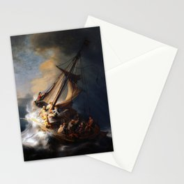 Rembrandt - The Storm on the Sea of Galilee Stationery Cards
