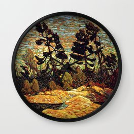 Tom Thomson - Summer Shore, Georgian Bay  - Canada, Canadian Oil Painting - Group of Seven Wall Clock