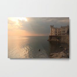 Miramare sunset Metal Print