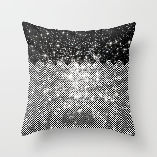 Chevron Universe Throw Pillow