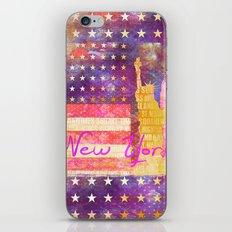New York USA Statue of Liberty iPhone & iPod Skin