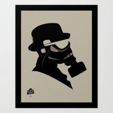 Storm Trooper Gas Mask  Art Print