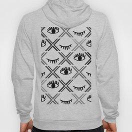 Original Black and White Eyes Design Hoody