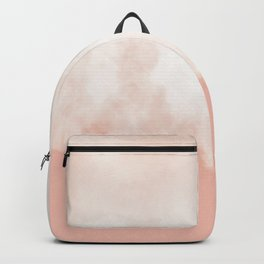 Cotton candy in beige pink Backpack