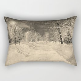 Wonderful winter night snowy street Rectangular Pillow