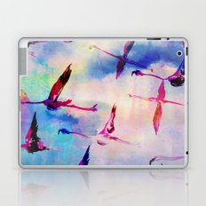 Flamingos In Flight Laptop & iPad Skin