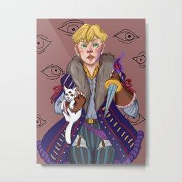 Me And My Demon Cat Metal Print