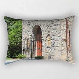 Lourdes University-  Portiuncula  Chapel Doors II Rectangular Pillow