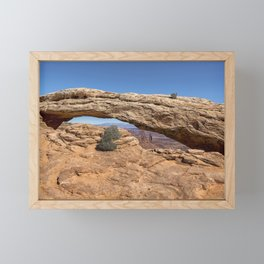 Clear Day at Mesa Arch - Canyonlands National Park Framed Mini Art Print