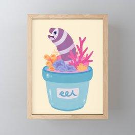 Eel flower pot 2 Framed Mini Art Print