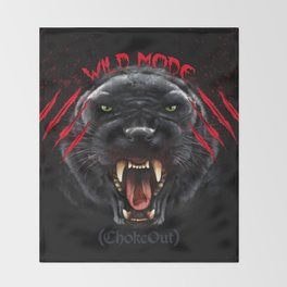 Wild Mode. Bjj, Mma, grappling Throw Blanket
