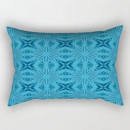 Teal Blue Flower Cross Rectangular Pillow