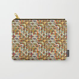 Geometric Quilt Carry-All Pouch
