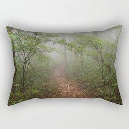 Adventure Ahead - Foggy Forest Digital Nature Photography Rectangular Pillow