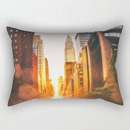 NYC Skyline Sunset Rectangular Pillow