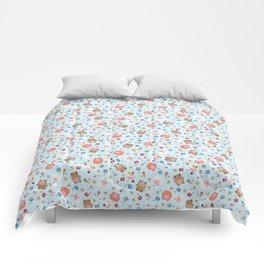 New Year Blushy Blue Version Comforters