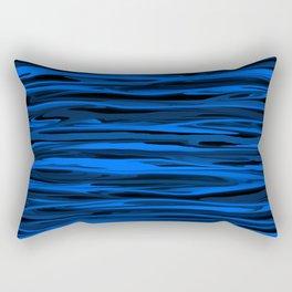 Slate Blue and Light Aqua Blue Stripes Rectangular Pillow