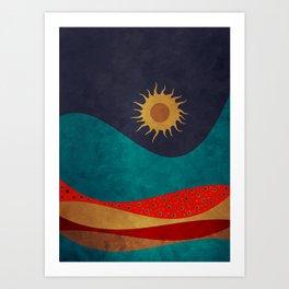 color under the sun Art Print