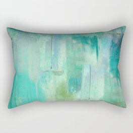 Aqua Circumstance Rectangular Pillow