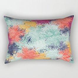 Tropical Fan Palm Paradise – Colorful #03 Rectangular Pillow