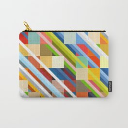 Colorful Geometric Stripes Radande Carry-All Pouch