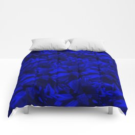A202 Rich Blue and Black Abstract Design Comforters