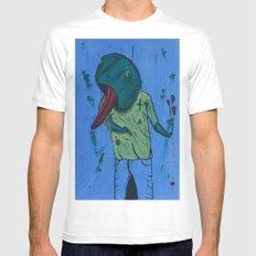 Froggy Suicide Mens Fitted Tee White MEDIUM