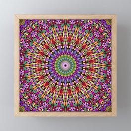 Petal Burst Mandala Framed Mini Art Print