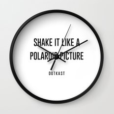 Shake it like a picture Wall Clock