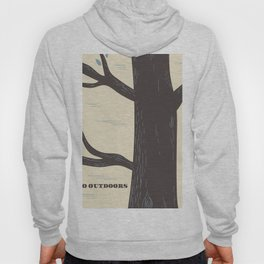 Go Outdoors Tree poster Hoody