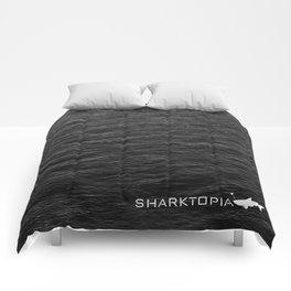 Sharktopia - 2018 Logo Comforters