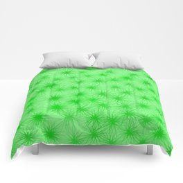 Green Fuzzball Abstract Comforters