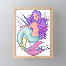 Mermaid 002 Framed Mini Art Print