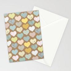 hearts pattern Stationery Cards