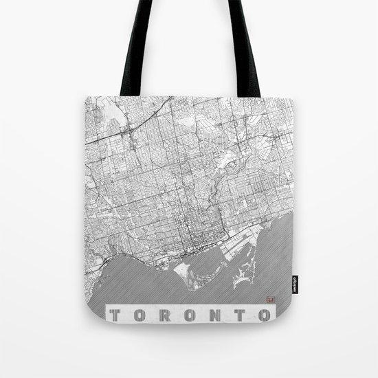 Toronto Map Line Tote Bag