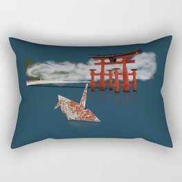 Floating by the Torii Gate Rectangular Pillow