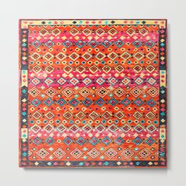 N120 - Fresh Bohemian Traditional Moroccan Style Artwork. Metal Print