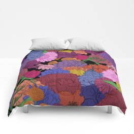Bouquet of Flowers - Color Version Comforters