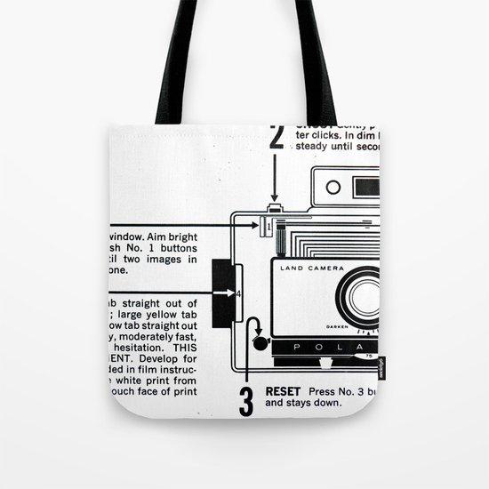 Polaroid Land Camera  Tote Bag