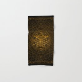 Dark Matter - Gold - By Aeonic Art Hand & Bath Towel