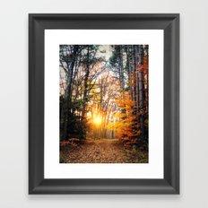 The Burning Framed Art Print